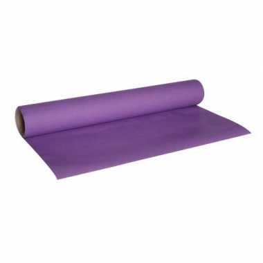 Luxe paarse kleur tafelloper