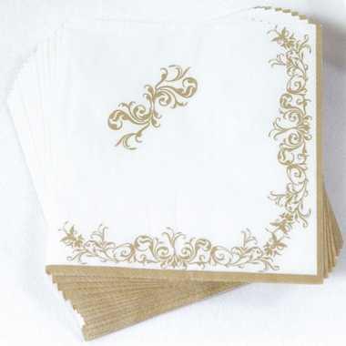 Luxe servetten goud 33 x 33 cm