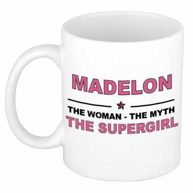 Madelon the woman, the myth the supergirl cadeau koffie mok / thee beker 300 ml