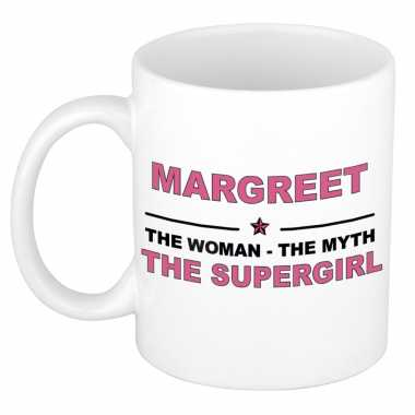 Margreet the woman, the myth the supergirl cadeau koffie mok / thee beker 300 ml