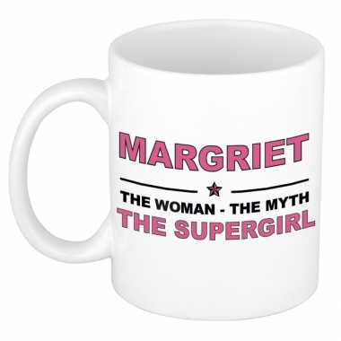 Margriet the woman, the myth the supergirl cadeau koffie mok / thee beker 300 ml