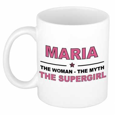 Maria the woman, the myth the supergirl cadeau koffie mok / thee beker 300 ml