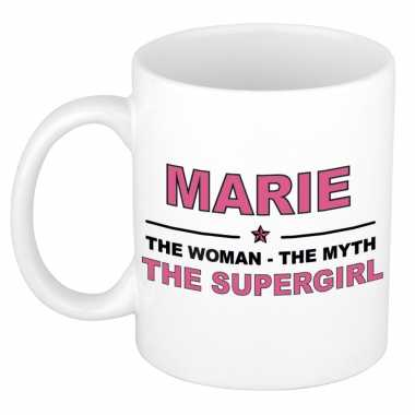 Marie the woman, the myth the supergirl cadeau koffie mok / thee beker 300 ml