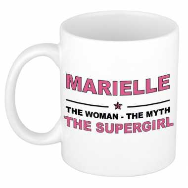 Marielle the woman, the myth the supergirl cadeau koffie mok / thee beker 300 ml