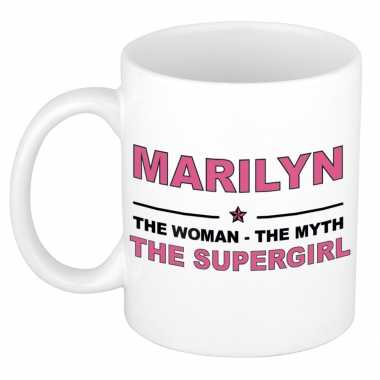 Marilyn the woman, the myth the supergirl cadeau koffie mok / thee beker 300 ml