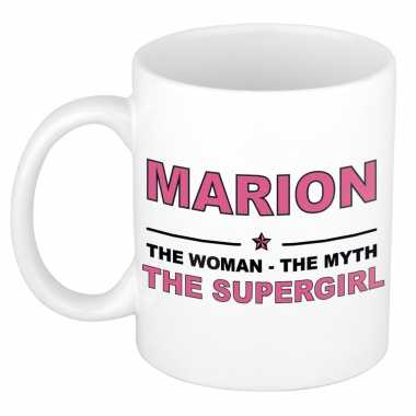 Marion the woman, the myth the supergirl cadeau koffie mok / thee beker 300 ml
