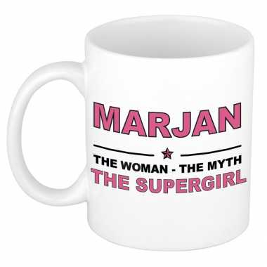 Marjan the woman, the myth the supergirl cadeau koffie mok / thee beker 300 ml