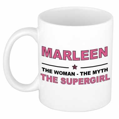 Marleen the woman, the myth the supergirl cadeau koffie mok / thee beker 300 ml
