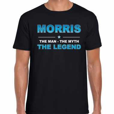 Naam cadeau t-shirt morris - the legend zwart voor heren