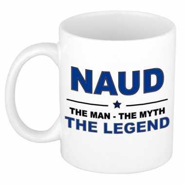 Naud the man, the myth the legend cadeau koffie mok / thee beker 300 ml