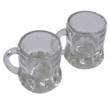 Oktoberfest - shotglas bierpul met handvat 2cl