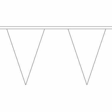 Polyester vlaggenlijn wit 5 meter