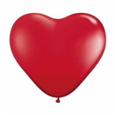 Qualatex hartjes ballon rood 28cm