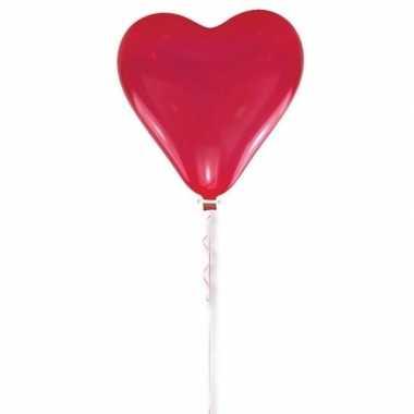 Rode hart ballon 70 cm