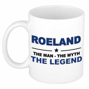 Roeland the man, the myth the legend cadeau koffie mok / thee beker 300 ml