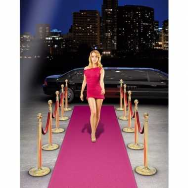 Roze loper 450 x 50 cm