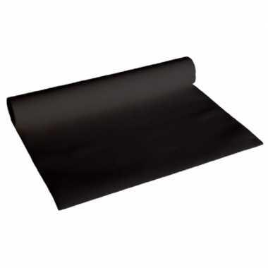 Set van 2x stuks luxe zwarte tafellopers 480 x 40 cm