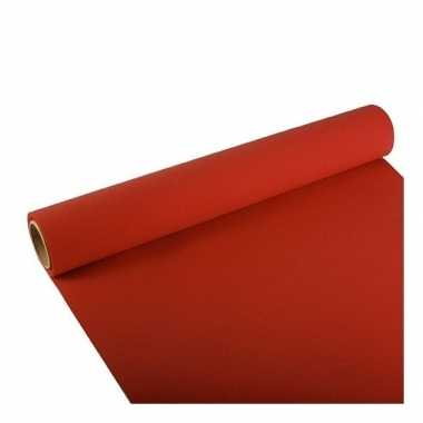 Set van 2x stuks tafelloper rood 300 x 40 cm papier