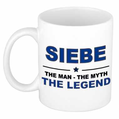 Siebe the man, the myth the legend cadeau koffie mok / thee beker 300 ml