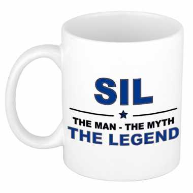 Sil the man, the myth the legend cadeau koffie mok / thee beker 300 ml