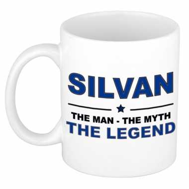 Silvan the man, the myth the legend cadeau koffie mok / thee beker 300 ml