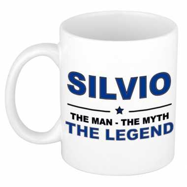 Silvio the man, the myth the legend cadeau koffie mok / thee beker 300 ml