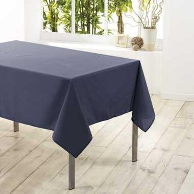 Tafelkleed/tafellaken antraciet grijs 140 x 250 cm textiel/stof