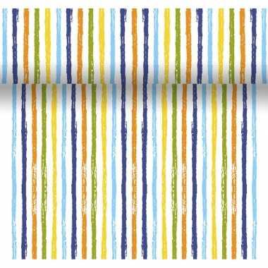 Tafelloper 3-in-1 met strepen print 4,80 meter