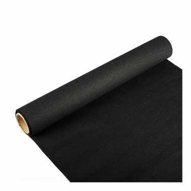 Tafelloper zwart 300 x 40 cm papier