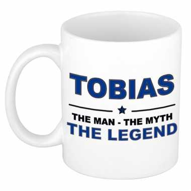 Tobias the man, the myth the legend cadeau koffie mok / thee beker 300 ml