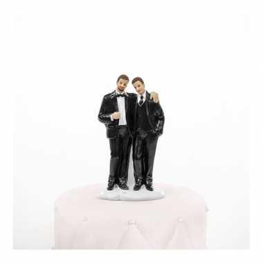 Trouwfiguurtje 2 bruidegoms 11 cm