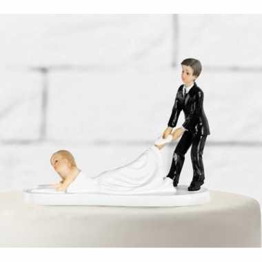Trouwfiguurtje slepende bruid