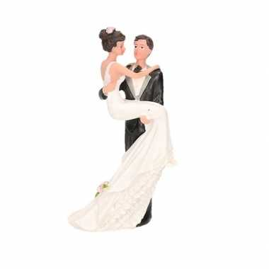 trouwfiguurtjes bruidspaar romantisch taart decoratie 14cm