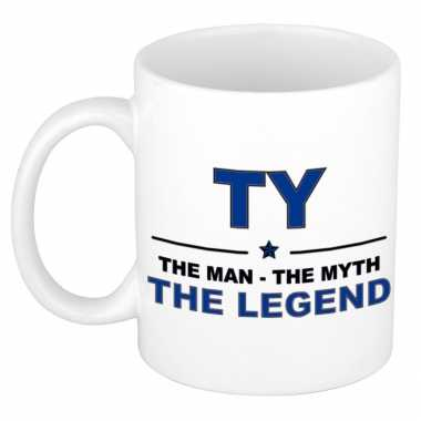 Ty the man, the myth the legend cadeau koffie mok / thee beker 300 ml