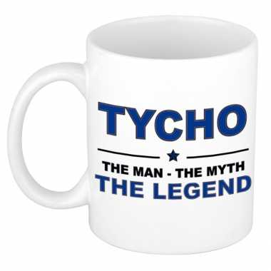 Tycho the man, the myth the legend cadeau koffie mok / thee beker 300 ml