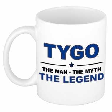 Tygo the man, the myth the legend cadeau koffie mok / thee beker 300 ml