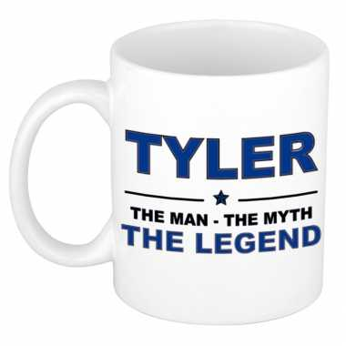 Tyler the man, the myth the legend cadeau koffie mok / thee beker 300 ml