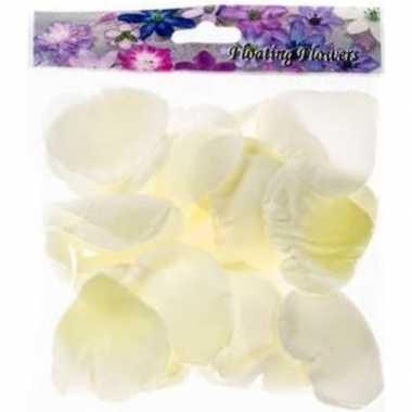 Valentijn - 36x witte strooi rozenblaadjes decoratie