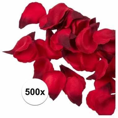 Valentijn - 500x rode strooi rozenblaadjes 3 cm