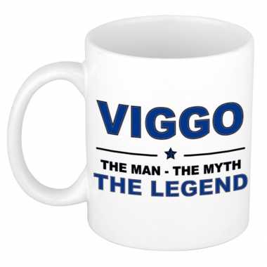 Viggo the man, the myth the legend cadeau koffie mok / thee beker 300 ml