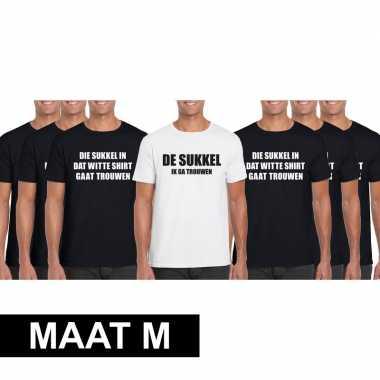 Vrijgezellenfeest heren t-shirt pakket de sukkel - maat m