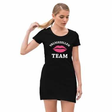 Vrijgezellenfeest team jurkje zwart voor dames