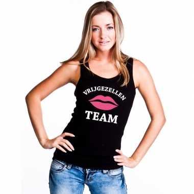 Vrijgezellenfeest team singlet shirt/ tanktop zwart dames