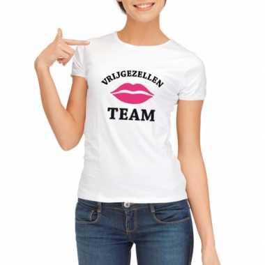 Vrijgezellenfeest team t-shirt wit dames