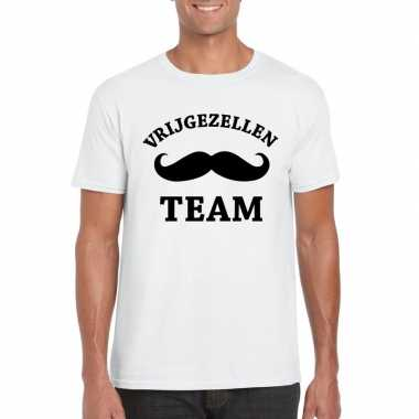 Vrijgezellenfeest team t-shirt wit heren