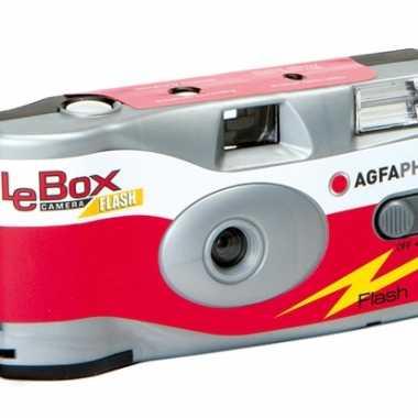 Wegwerp camera met flitser en 27 fotos