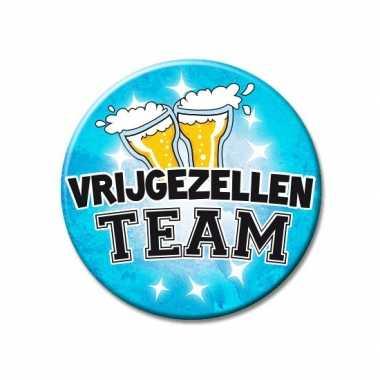 Xxl blauwe vrijgezellen team button