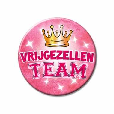 Xxl roze vrijgezellen team button