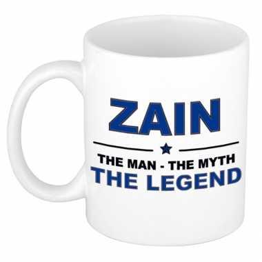 Zain the man, the myth the legend cadeau koffie mok / thee beker 300 ml