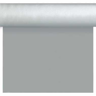 Zilveren tafelloper/placemats 40 x 480 cm